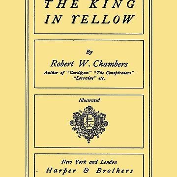 The King in Yellow Robert W. Chambers Title Page by buythebook86