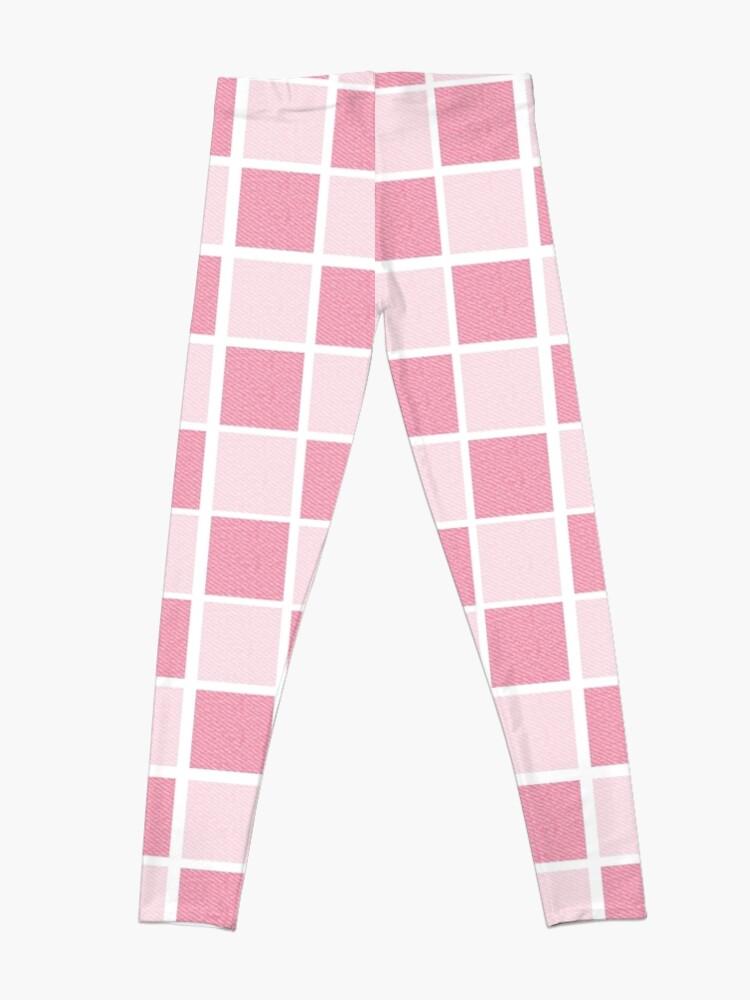 Alternate view of Pink checkers Leggings