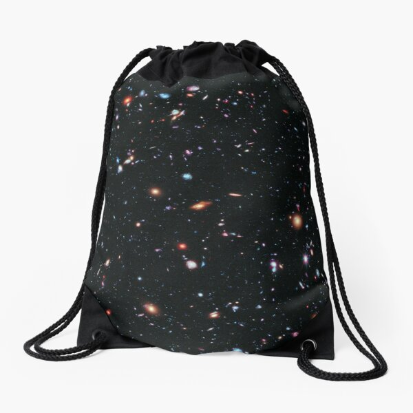 Hubble Extreme Deep Field Image of Outer Space Drawstring Bag