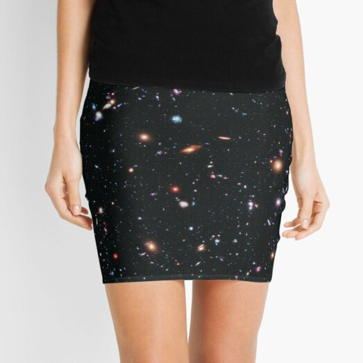 Hubble Extreme Deep Field Image of Outer Space Mini Skirt
