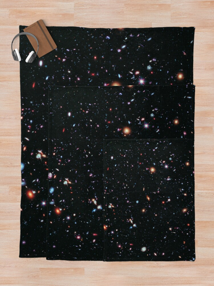 Alternate view of Hubble Extreme Deep Field Image of Outer Space Throw Blanket