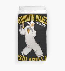Vermouth Bianco Vintage Poster Restored Duvet Cover