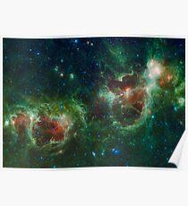 Heart and Soul Nebula IC 1805 Sharpless 2-190 Poster