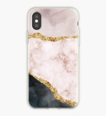 Rosegold marble pattern iPhone Case