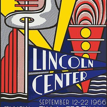 Roy Fox Lichtenstein, Lincoln Center 1966, 4th New York Film Festival, Philarmonic Hall, Men, Women, Kids, Posters, Prints, Bags, Tshirts by clothorama