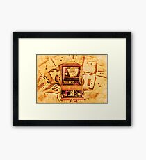 Tools from the threading trade Framed Print