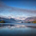Derwent Water reflections by Clemitt
