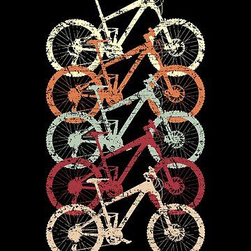 Fünf Mountainbikes MTB von S-p-a-c-e