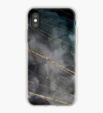 elegant waterolor black gold iPhone Case