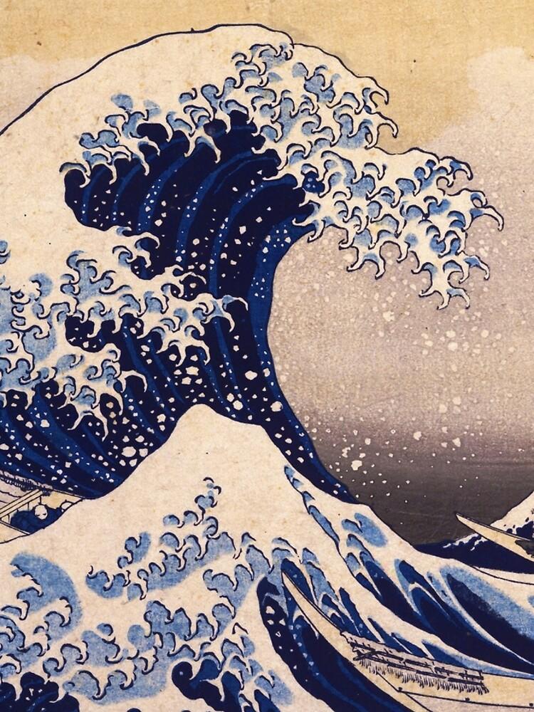 The Great Wave off Kanagawa by Katsushika Hokusai (c 1830-1833) by allhistory