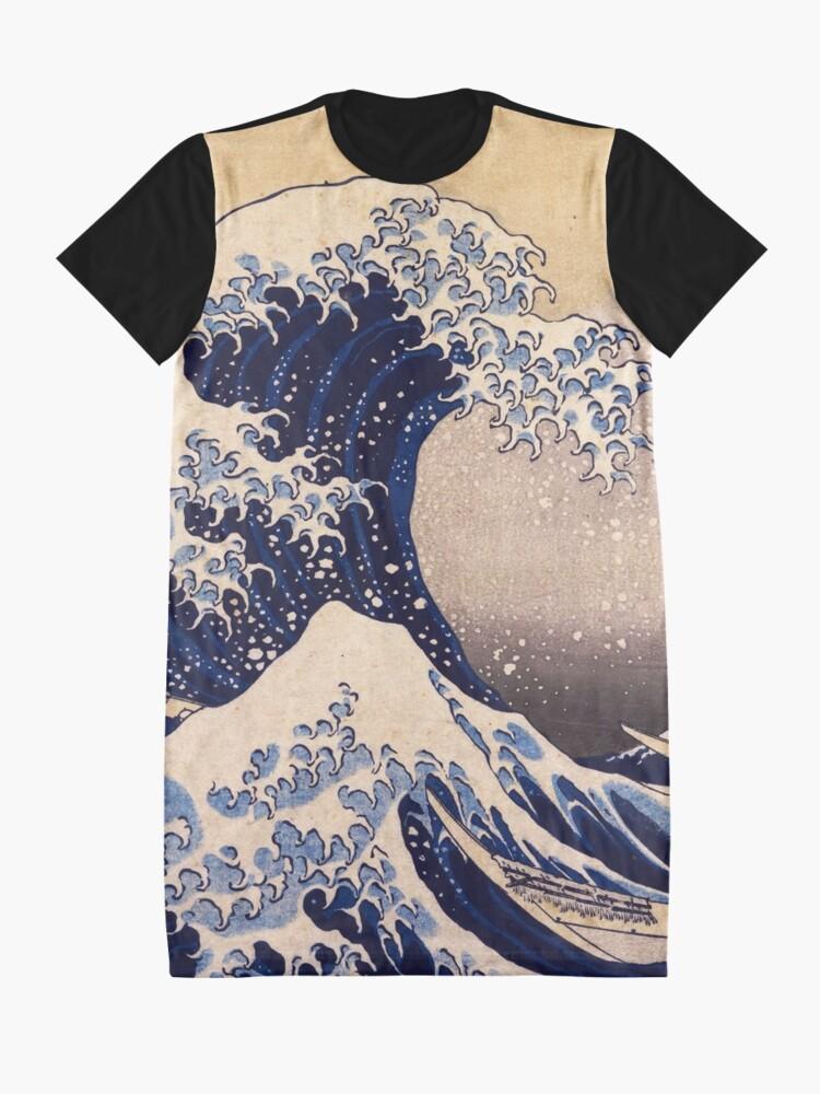 Alternate view of The Great Wave off Kanagawa by Katsushika Hokusai (c 1830-1833) Graphic T-Shirt Dress