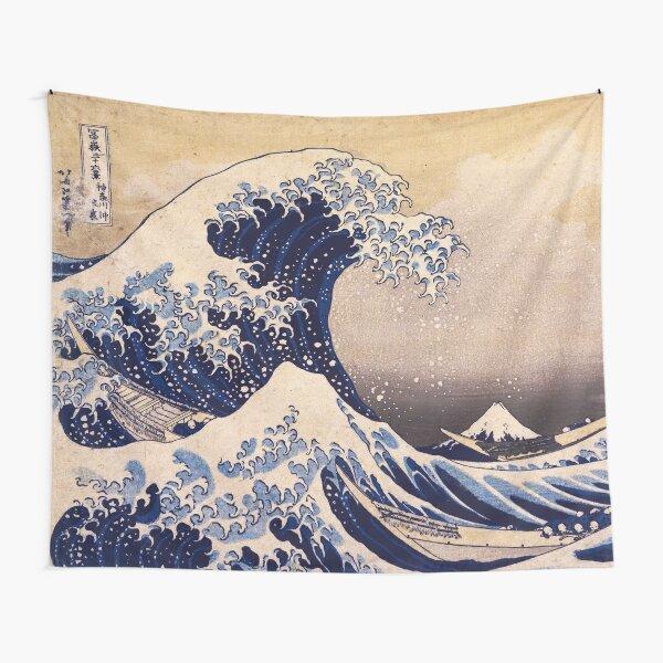 The Great Wave off Kanagawa by Katsushika Hokusai (c 1830-1833) Tapestry