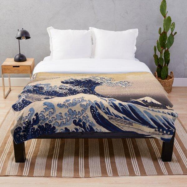 The Great Wave off Kanagawa by Katsushika Hokusai (c 1830-1833) Throw Blanket