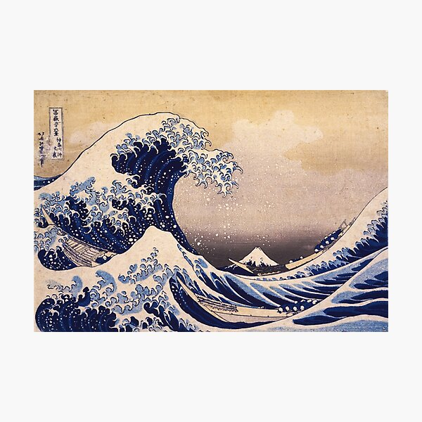 The Great Wave off Kanagawa by Katsushika Hokusai (c 1830-1833) Photographic Print