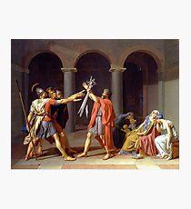 Lámina fotográfica Juramento de los Horacios de Jacques-Louis David (1784)