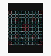Cube pattern retrogame Photographic Print