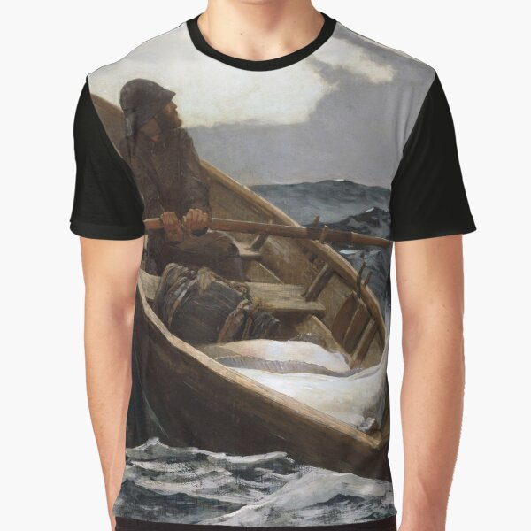 The Fog Warning (Halibut Fishing) by Winslow Homer (1885) Graphic T-Shirt