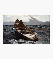 Lámina fotográfica El aviso de niebla (pesca del halibut) por Winslow Homer (1885)
