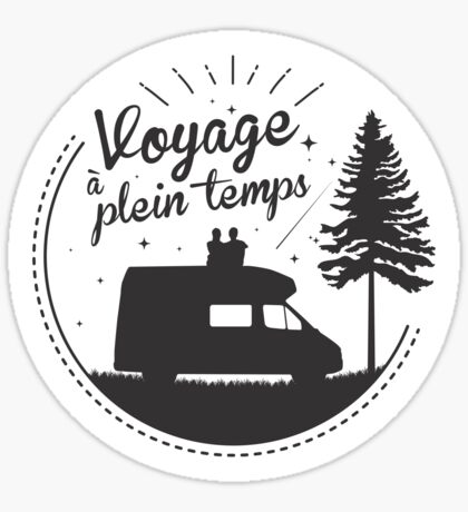 Sticker Étoiles - Voyage à plein temps Sticker