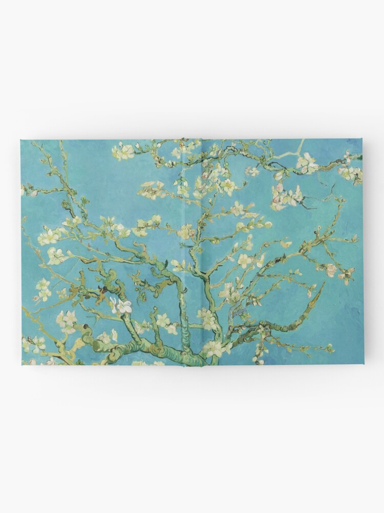 Alternate view of Almond Blossoms by Vincent van Gogh (1890) Hardcover Journal