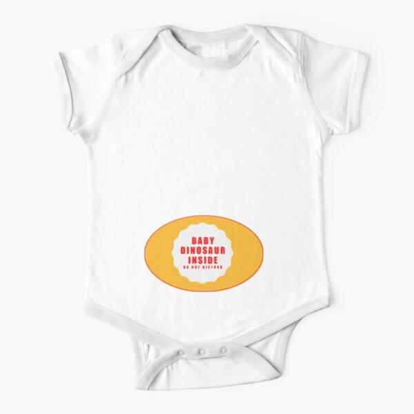 Baby Dinosaur Inside T shirt Short Sleeve Baby One-Piece