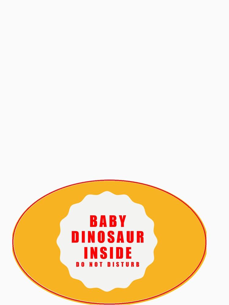 Baby Dinosaur Inside T shirt by santoshputhran