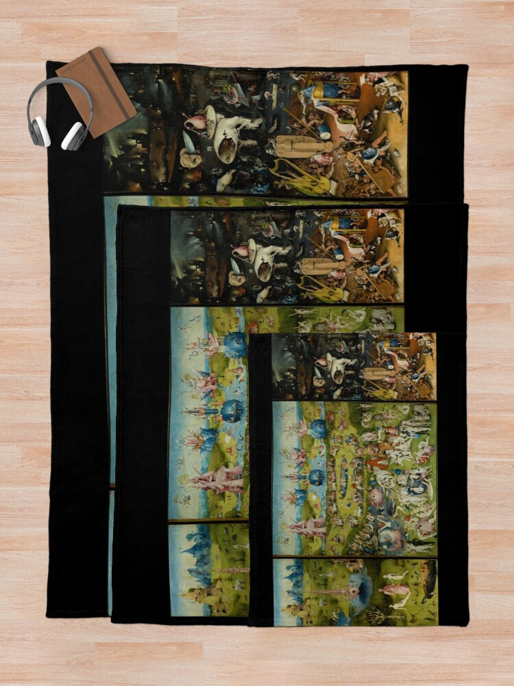 Alternate view of The Garden of Earthly Delights by Hieronymus Bosch (1480-1505) Throw Blanket