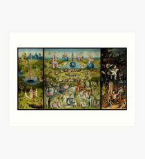 The Garden of Earthly Delights by Hieronymus Bosch (1480-1505) Art Print