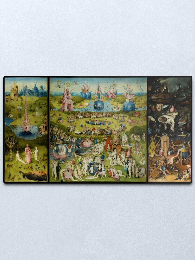 Alternate view of The Garden of Earthly Delights by Hieronymus Bosch (1480-1505) Metal Print