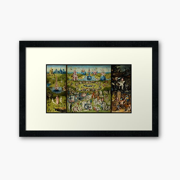 The Garden of Earthly Delights by Hieronymus Bosch (1480-1505) Framed Art Print