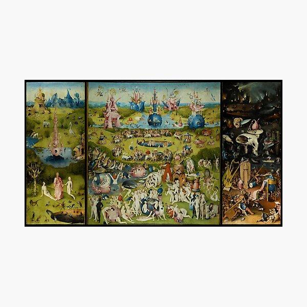 El jardín de las delicias de Hieronymus Bosch (1480-1505) Lámina fotográfica