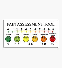 Medical Pain Assessment Tool Chart  Photographic Print