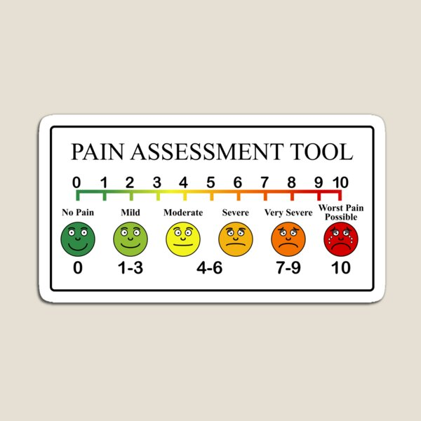 Medical Pain Assessment Tool Chart  Magnet