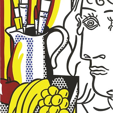 Roy Fox Lichtenstein, Still Life with Picasso from Homage to Picasso (Hommage à Picasso) 1973, Men, Women, Kids, Posters, Prints, Bags, Tshirts by clothorama