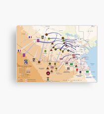 Operation Desert Storm Ground Map (Feb 24-28 1991) Canvas Print