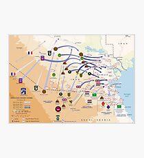 Lámina fotográfica Mapa de la Operación Tormenta del Desierto Terrestre (24-28 de febrero de 1991)