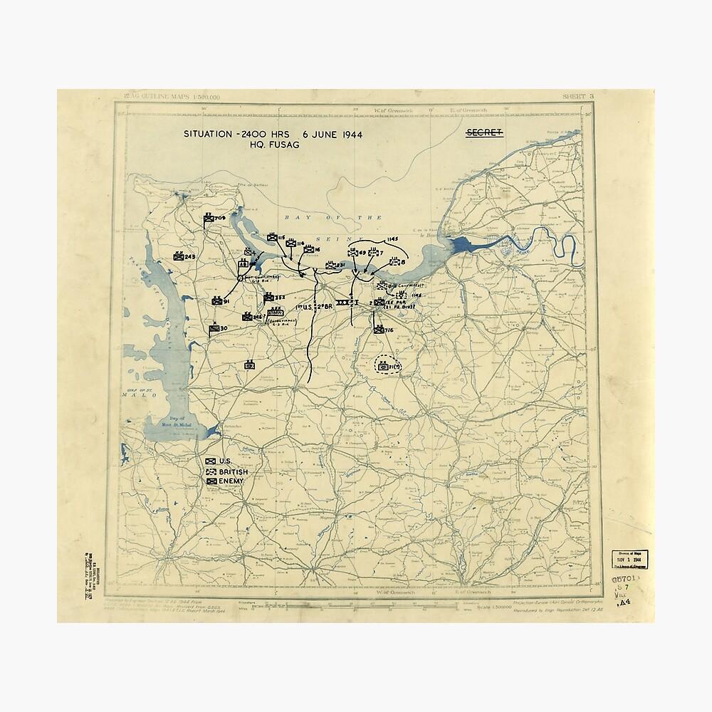 6. Juni 1944 D-Day Zweiter Weltkrieg Fotodruck