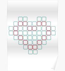 block heart Poster