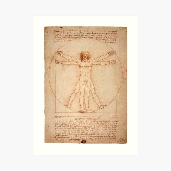 Vitruvian Man by Leonardo Da Vinci (1490) Art Print