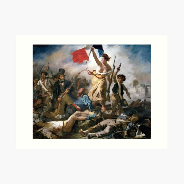 Liberty Leading the People by Eugène Delacroix (1830) Art Print
