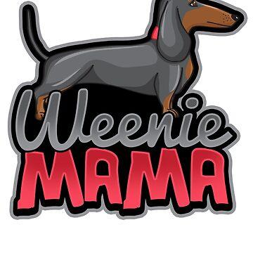 Cute Dachshund Mama T-Shirt by mjacobp