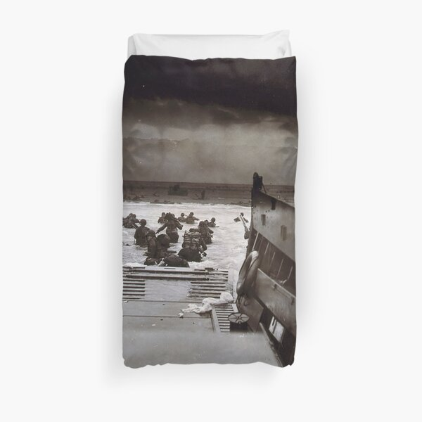 Taxis to Hell and Back World War II Normandy Beach June 6 1944 Duvet Cover