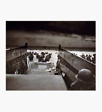 Taxis to Hell and Back World War II Normandy Beach June 6 1944 Photographic Print