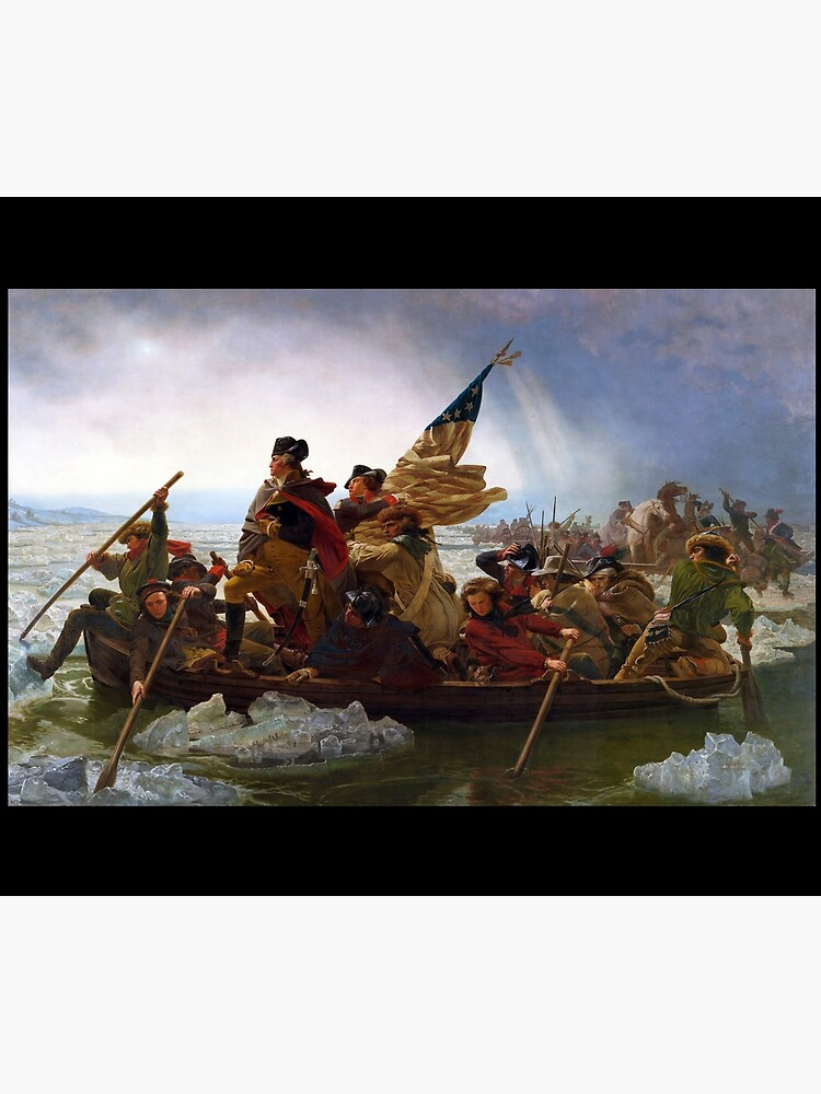 Washington Crossing the Delaware by Emanuel Leutze (1851) by allhistory