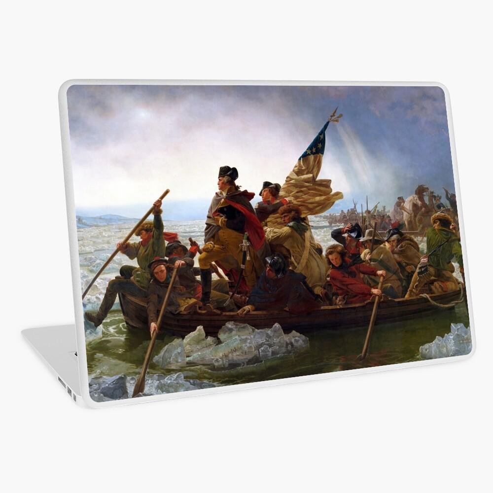 Washington Crossing the Delaware by Emanuel Leutze (1851) Laptop Skin