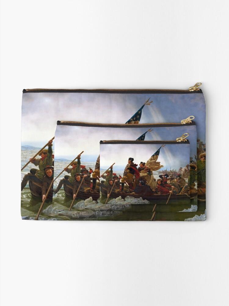 Alternate view of Washington Crossing the Delaware by Emanuel Leutze (1851) Zipper Pouch