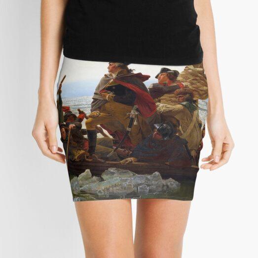 Washington Crossing the Delaware by Emanuel Leutze (1851) Mini Skirt