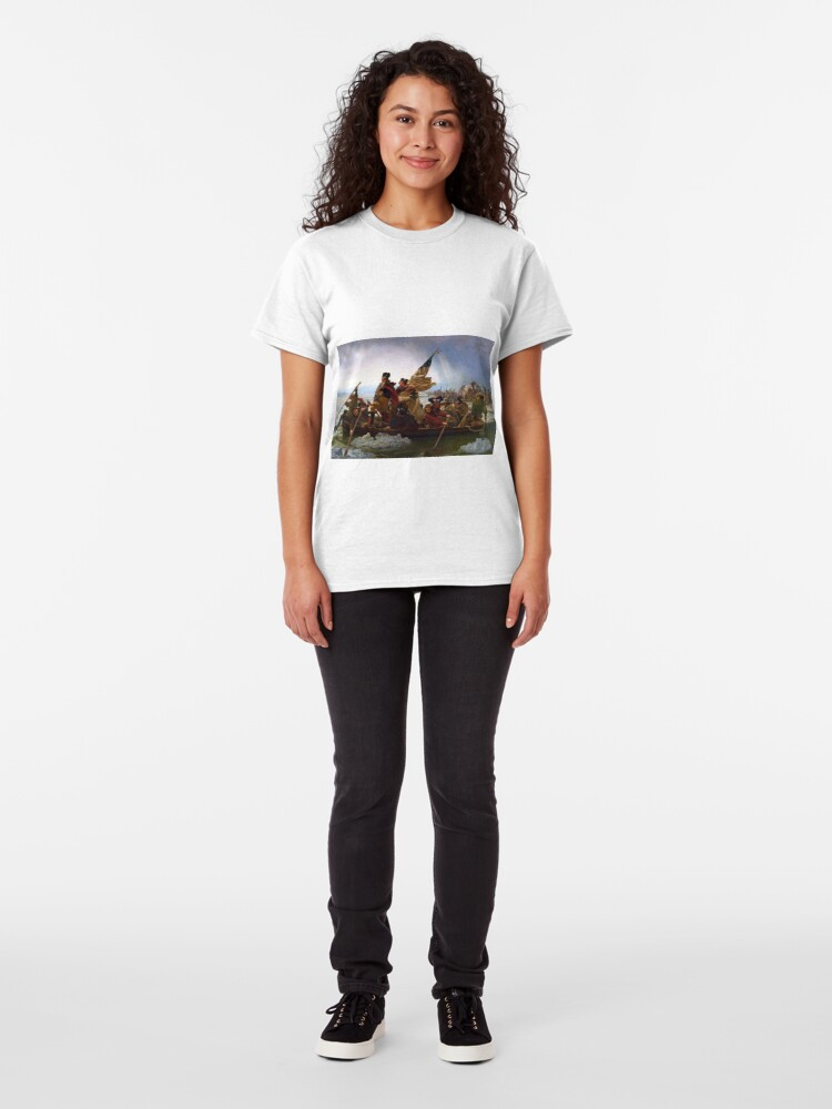 Alternate view of Washington Crossing the Delaware by Emanuel Leutze (1851) Classic T-Shirt