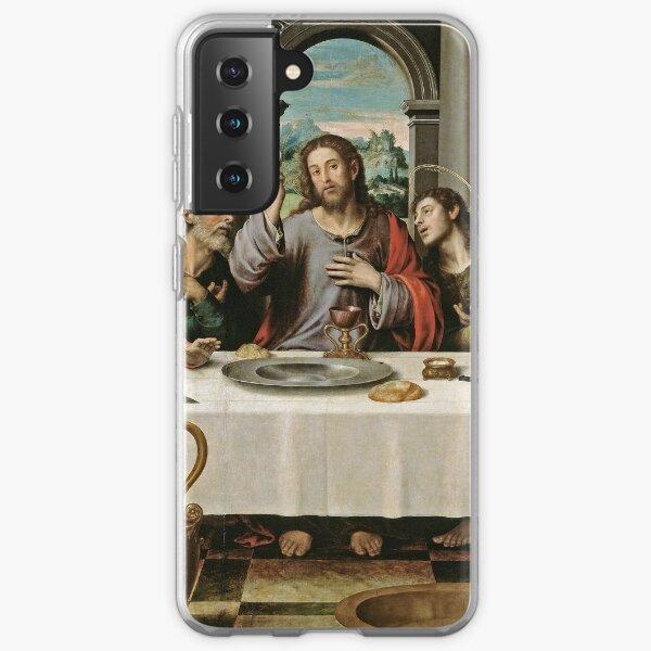 The Last Supper (Ultima Cena) by Joan de Joanes (c. 1562) Samsung Galaxy Soft Case