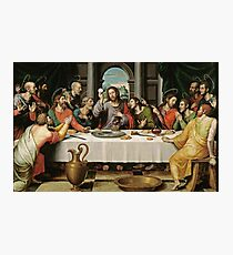 The Last Supper (Ultima Cena) by Joan de Joanes (c. 1562) Photographic Print